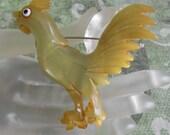 Bakelite Rooster Brooch