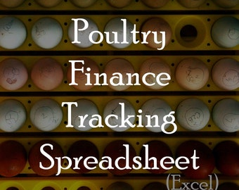 Poultry Finance Tracking Spreadsheet (Excel Required)