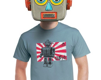 robot t-shirt geeky japanese robot t-shirt mens nerdy robot tee vintage toy robot retro toy for gamers toy collector and robot fans s-4xl