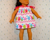 18 Inch Doll Valentine Print Pillowcase Dress by SEWSWEETDAISY