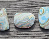 Minnesota Fordite Cabochons - extremely rare and collectible vintage paint - faux agate