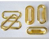 50pcs 1.2 inch 1 inch 3/4 inch ( inside size ) silver,anti brass,gunmetal,golden Oval Eyelet Grommets