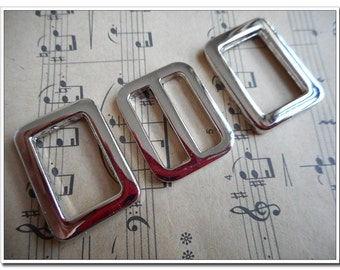 "5 sets 3/4 inch (inner size) Flat Cast Center Bar Slide buckles 3/4"" Rectangular / Square Flat Rings, nickel Finish,antique brass , 3/4"""