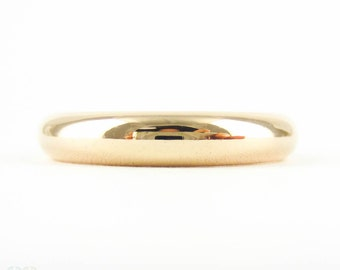Vintage 9ct Rose Gold Wedding Ring, Womens Traditional D Profile Wedding Band. Circa 1940s, Size J.5 / 5.