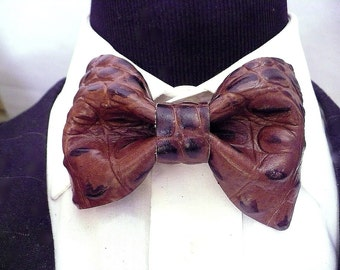 Leather Preformed Bow Tie 10