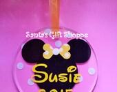 Christmas - Personalized Ornament  - Mickey/Minnie Mouse - Acrylic Ornament - Disneyland - Polka Dots - santasgiftshoppe