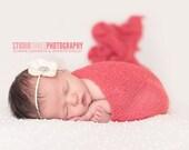 Coral Stretch Knit Wrap Newborn Photography