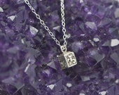 Prayer Box necklace in Sterling Silver/ Prayer Box charm necklace / Prayer Box pendant / Prayer beads necklace / Wish Box necklace