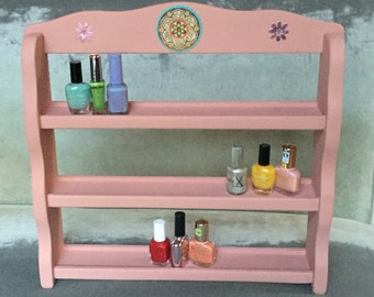 Nail Polish Rack Organizer Display - Upcycled Storage for your Beauty items!
