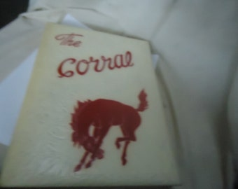 Vintage 1951 The Corral Yearbook Odessa High School, Odessa Texas, annual, collectable
