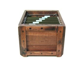 File Organizer, Wooden Box for Files, Filing Box, Filing System, Paperwork Organizer, Hanging File Storage Box, File Holder, File Sorter