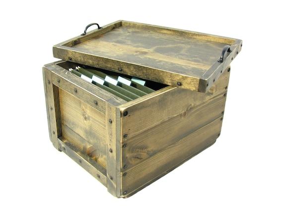 Small File Cabinet, File Storage & Organization, Wooden Box For Files, File Sorter, File Holder, Filing System, Hanging File Organizer