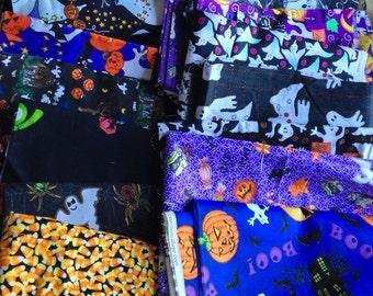 Halloween Pumpkins Jack O Lantern Ghosts Fall Fabric