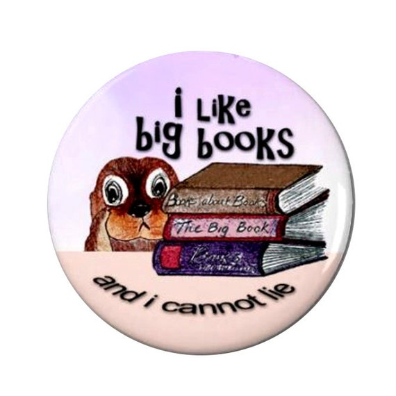 Big Books Otter Magnet or Button -L6