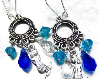 Mermaid Treasure Chandelier Earrings