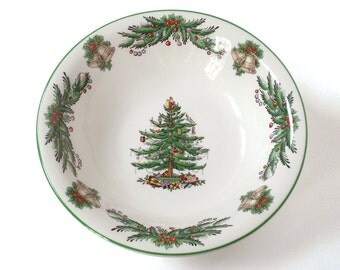 Vintage Spode Christmas Tree Ascot Coupe Cereal Bowl