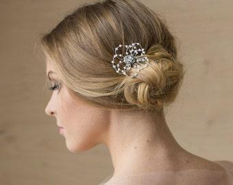 Bridal hair accessories, Bridal Hair piece, Pearl hair piece, Bridal hair pin, Bridal headpiece, Flower hair piece, Pearl hair accessories