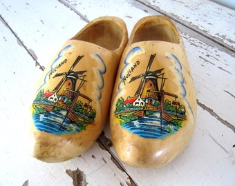 Vintage Wooden Shoes From Holland