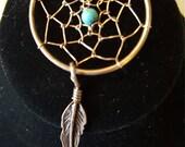 Vintage STERLING SILVER Dreamcatcher Necklace
