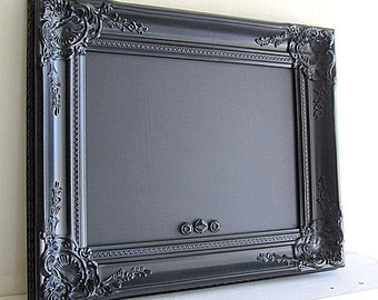 Black FRAMED CHALKBOARD Wedding Signage Ideas Party Photo Prop MAGNETIC Decorative Chalkboard Blackboard Bar Menu Sign Gothic Wedding Decor