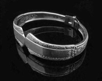 Spoon Bracelets, Handmade Silver Bracelets, Silverware Bracelets, Treasure MEDIUM fits 6-7 inch wrist