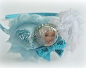 Fairy-Secret of the Wings Headband-Disney Periwinkle-shabby flower-satin sparkle-made by Maddie B's Boutique