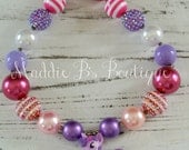 SALE--Last One--My Little Pony-chunky bead necklace-Twilight Sparkle-girls accessories-made by Maddie B's Boutique on Etsy