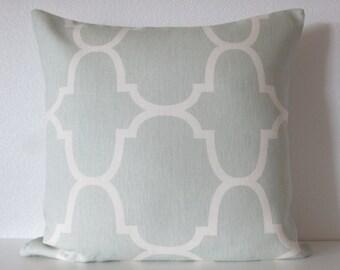 Windsor Smith Riad Seafoam lattice designer decorative pillow cover