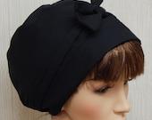 Black Head Scarf , Jewish Tichel Head Wrap, Cotton Head Wear, Retro Headscarf, Prayer Head Covering, Summer Hair Scarves