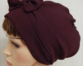 Burgundy head scarf, women's dark red head covering, womens hair scarf, summer head wrap, Jewish tichel headscarf, bad hair day hair wrap