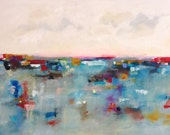 Large Abstract cityscape/Seascape - Bay City Color 60 x 40