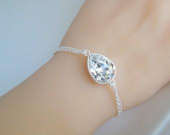 Bridal Bracelet Crystal Rhinestone Bracelet Swarovski crystal Wedding Bracelet Bridal Jewelry Bridal Statement Bracelet Wedding Cuff ARIA