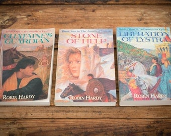 Annals of Lystra Books, Christian Fiction Novels, Robin Hardy, Vintage 90s