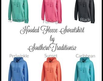 Monogram Fleece Pullover - Crewneck Sweatshirt - Monogrammed Crewneck Sweatshirt - Monogram Tunic