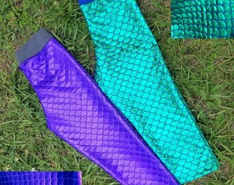 Mermaid scales capri length leggings girl size 6