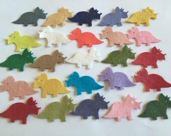 Wool Felt Dinosaur 25 Count - Random Colored 3244