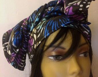 Assorted-Satin Hair Scarf/Satin Hair Wrap/Scarves/Neck Scarf/Dreadlock Wrap/Sleep Cap