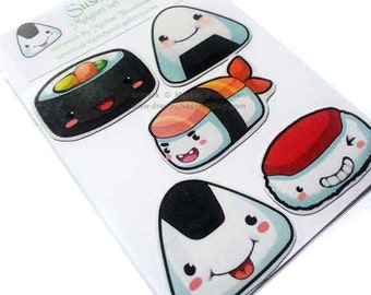 cute chibi sushi Magnet set of 5