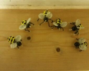bead bumble bee set of 5