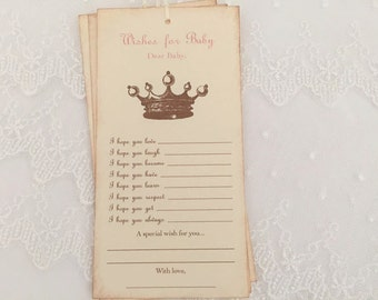 Princess Crown Dear Baby Tags