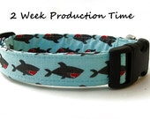 Nautical Dog Collar - Shark Attack!