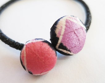 Japanese pure silk Hair accessories spotted pattern 64