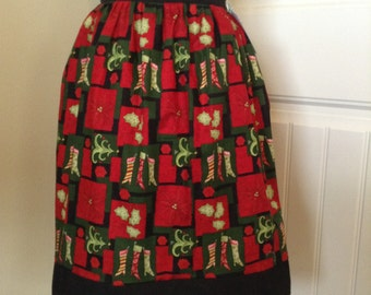 Funky Holiday Half Apron