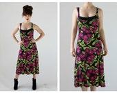 BETSEY JOHNSON Cherry Dress- M, Bombshell Stretch Jersey Hourglass Long Tank Dress