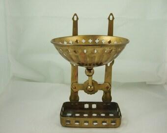Brass Soap Dish with Sponge Basket