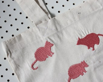 Stitched Quoll Tote - Pink