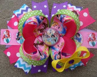 Hair Bow Large Hair bow princess Hair Bow all Princess Hair Bow multicolors hair bow