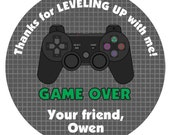 Video Game Birthday Party Sticker --video game sticker --  video game party favor tag Game On
