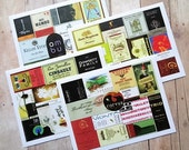 Wine Label Collage Note Cards Wine Enthusiast Hostess Gift Wine Party