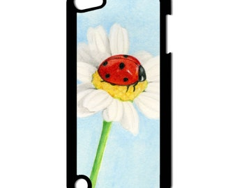 Lady Bug On a Flower Apple iPod Touch 5th Generation Hard Case Original Food Art (Choose Case Color)